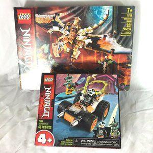 Lego Ninjago Lot Of 2 Sets Wus Battle Dragon 71718